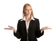 Confused young business woman Stock Photography