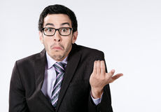 Confused young businessman Stock Image
