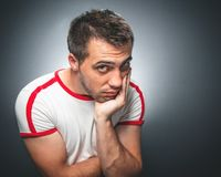 Confused young man Royalty Free Stock Photos
