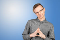 Confused young man thinking Royalty Free Stock Photo