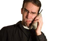 Confusión de la llamada de teléfono fotografía de archivo libre de regalías