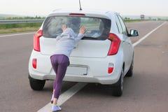 Confusión en la pista del coche Imagen de archivo libre de regalías