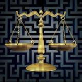 Confusión legal ilustración del vector
