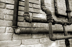 Confusing Pipes Royalty Free Stock Photos