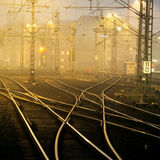 Confusing railway tracks Stock Image