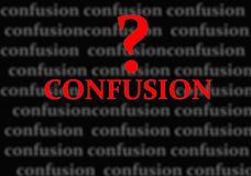 Confusion Stock Image