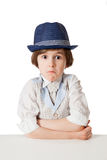 The confusion boy with expressive face Royalty Free Stock Image