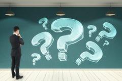 Confusion et concept de FAQ Image libre de droits