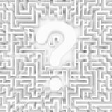 Confusion, lost in a maze. 3d render stock illustration