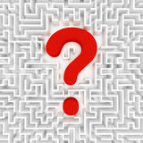 Confusion, lost in a maze Royalty Free Stock Photography
