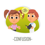 Confusion medical concept. Vector illustration. Stock Photography