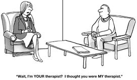 Confusion Over Who Exactly is the Therapist Stock Image