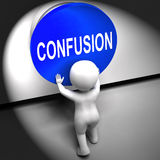 Confusion Pressed Means Puzzled Bewildered And Perplexed Royalty Free Stock Images