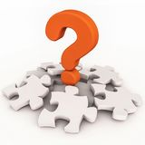 Confusion in puzzle Royalty Free Stock Image