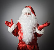 Confusion of a Santa Claus Royalty Free Stock Photo