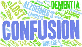 Confusion Word Cloud. On a white background Stock Image