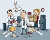 Confusione dell'ufficio illustrazione di stock