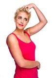 Confusione - donna che graffia la sua testa Immagine Stock Libera da Diritti