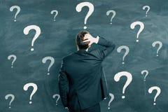 Confusione e concetto del FAQ fotografie stock