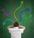 Confusione nel sistema scolastico Fotografie Stock Libere da Diritti
