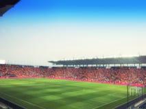 Confuso del champi del campo di calcio dell'arena dello stadio e dello stadio di football americano fotografia stock