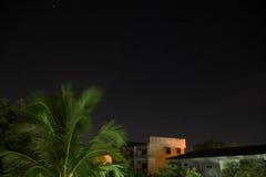 congères foncées de ciel de nuit d'illustration images stock
