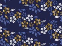Congé de style de luxe d'or et élément tropicaux de fleur illustration libre de droits