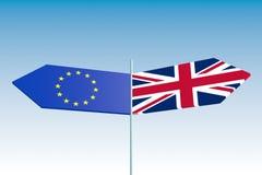 Congé du Royaume-Uni la métaphore d'Union européenne Photos libres de droits