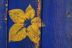 Congé jaune imprimé photographie stock