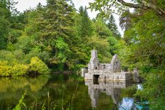 Monk`s fishing house at Cong Abbey, County Mayo, Ireland. Cong Abbey is a historic site located at Cong, on the borders of counties Galway and Mayo, in Ireland`s Stock Image