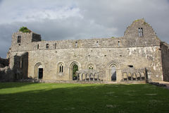 Cong Abbey, Ireland. Cong Abbey is a historic site located at Cong, on the borders of counties Galway and Mayo, in Ireland's province of Connacht. The ruins of Royalty Free Stock Photography