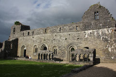 Cong Abbey, Ireland. Cong Abbey is a historic site located at Cong, on the borders of counties Galway and Mayo, in Ireland's province of Connacht. The ruins of Stock Photos
