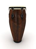 Conga drum. 3d rendering illustration of a conga drum. A clipping path is included for easy editing Royalty Free Stock Images