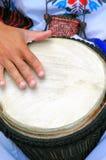 Conga drummer performing. stock photo