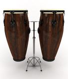 Conga drums. 3d rendering illustration of two conga drums Royalty Free Stock Photo