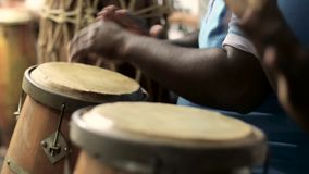 Conga Drums player in group stock footage