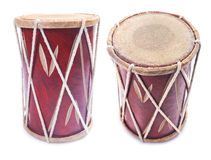 Conga percussion drum instrument isolated. On white stock photo