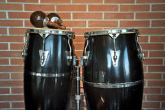 Congas and maracas Royalty Free Stock Photo
