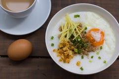 Congee del estilo chino de la comida tradicional Imagenes de archivo