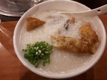 Congee för pudding/för komfortfood/ris fotografering för bildbyråer