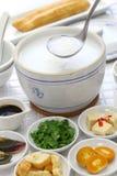 Congee, gachas de avena chinas del arroz imagen de archivo libre de regalías