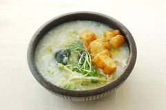 Congee with pork & preserved egg. Chinese cuisine. yumcha, chinese food Stock Photography