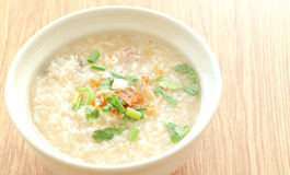 Congee round bowl Royalty Free Stock Image