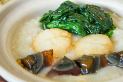 Congee with scallop Royalty Free Stock Photography