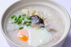 Congee, the traditional Chinese breakfast Stock Photography