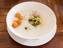 Congee, the traditional Chinese breakfast Royalty Free Stock Photos
