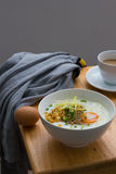 Congee of traditional food Chinese style. With soft-boiled egg Royalty Free Stock Images