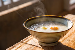 Congee. Is a type of rice porridge or gruel popular in many Asian countries Stock Image