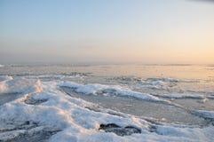 Congelação no gelo. Foto de Stock