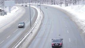Congelación en el camino metrajes